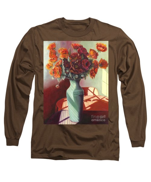 Long Sleeve T-Shirt featuring the painting Poppies by Marlene Book