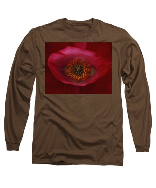 Long Sleeve T-Shirt featuring the photograph Poppy's Eye by Barbara St Jean