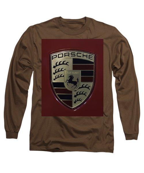 Porsche Emblem Long Sleeve T-Shirt by Sebastian Musial