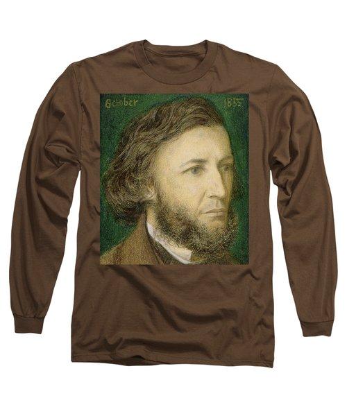 Portrait Of Robert Browning Long Sleeve T-Shirt