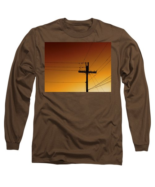 Power Line Sunset Long Sleeve T-Shirt