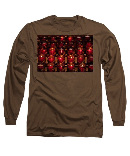 Prayer Candles Long Sleeve T-Shirt by Suzanne Stout