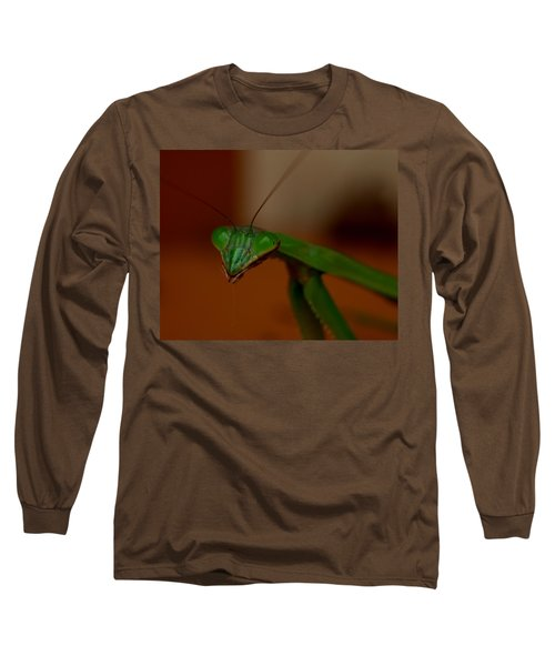 Praying Mantis Closeup Long Sleeve T-Shirt