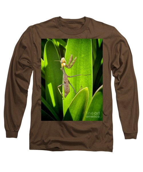 Long Sleeve T-Shirt featuring the photograph Praying Mantis by Kasia Bitner