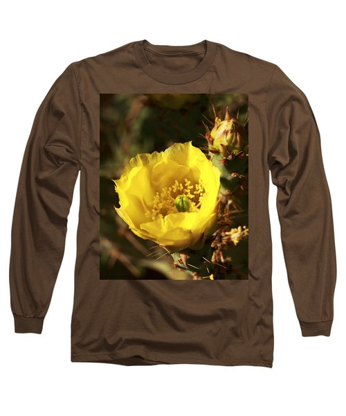 Long Sleeve T-Shirt featuring the photograph Prickly Pear Flower by Alan Vance Ley