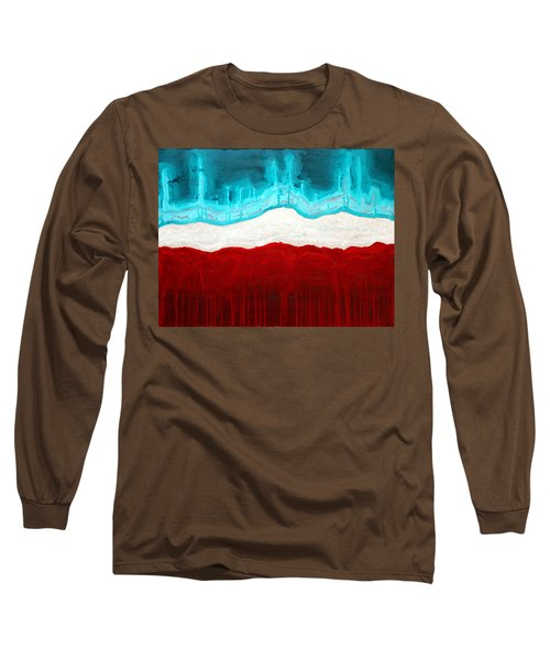Pueblo Cemetery Original Painting Long Sleeve T-Shirt