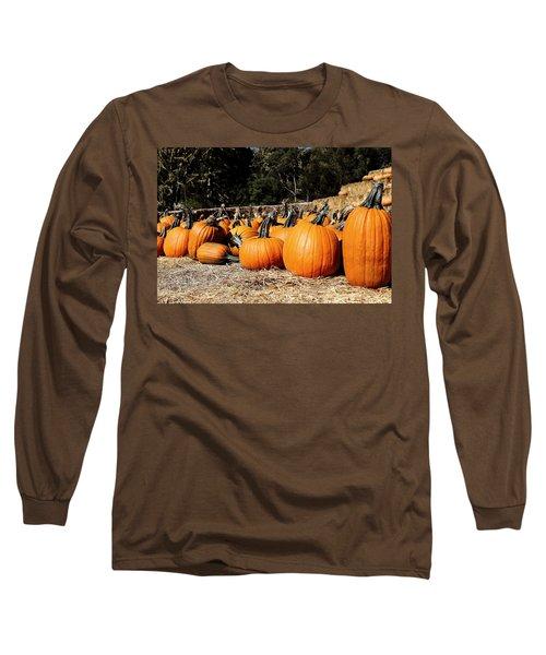 Pumpkin Goofing Off Long Sleeve T-Shirt