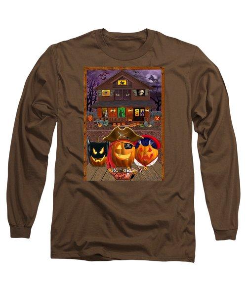 Pumpkin Masquerade Long Sleeve T-Shirt by Glenn Holbrook