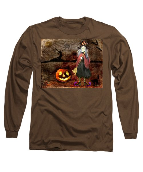 Pumpkinella The Magical Good Witch And Her Magical Cat Long Sleeve T-Shirt