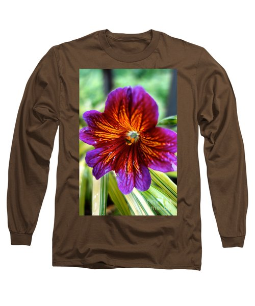 Purple And Orange Long Sleeve T-Shirt
