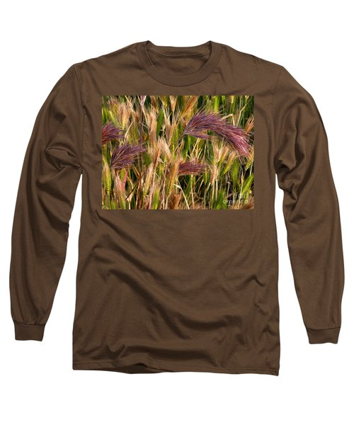 Purple Grasses Long Sleeve T-Shirt
