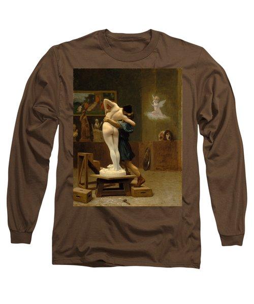 Pygmalion And Galatea Long Sleeve T-Shirt by Jean-Leon Gerome