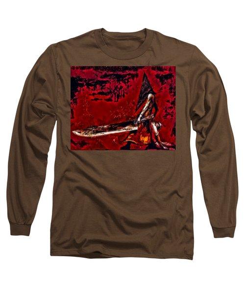 Pyramid Head Long Sleeve T-Shirt by Joe Misrasi