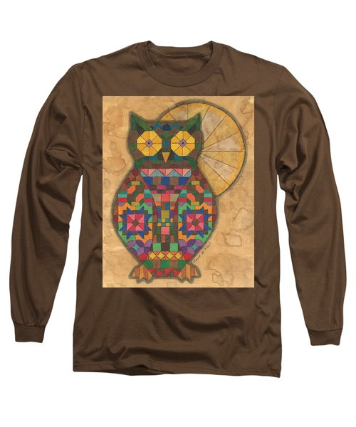Quilted Owl Long Sleeve T-Shirt