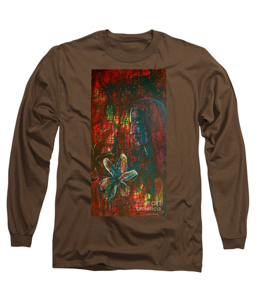 Long Sleeve T-Shirt featuring the painting Radiating Light by Mini Arora