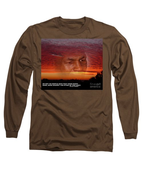 Rage Rage Against The Dying Of The Light Long Sleeve T-Shirt by Jim Fitzpatrick