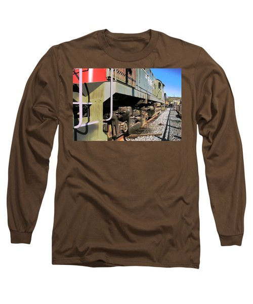 Long Sleeve T-Shirt featuring the photograph Rail Truck by Michael Gordon