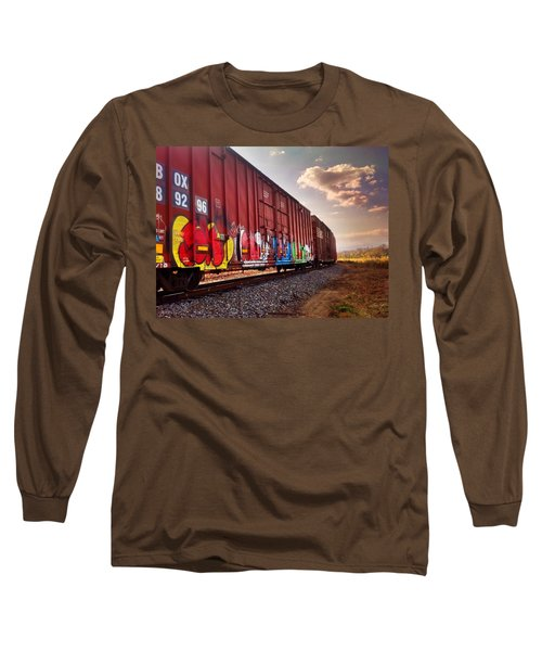 Railways Long Sleeve T-Shirt by Janice Spivey