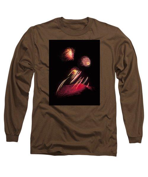 Raining Fire At Midnight Above 14000 Feet Long Sleeve T-Shirt