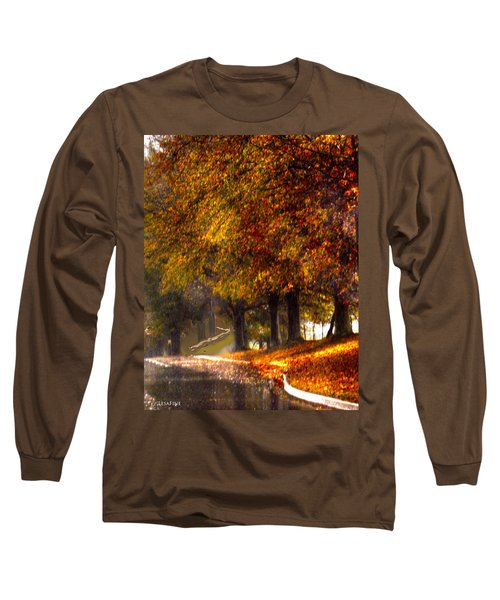 Long Sleeve T-Shirt featuring the photograph Rainy Day Path by Lesa Fine