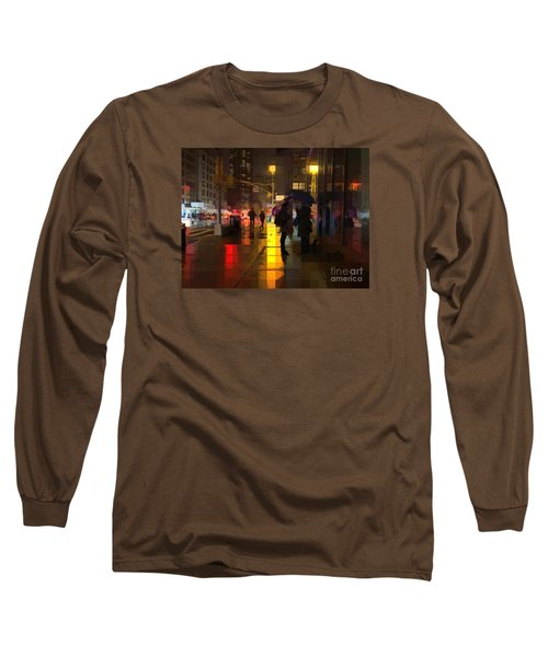Rainy Night New York Long Sleeve T-Shirt