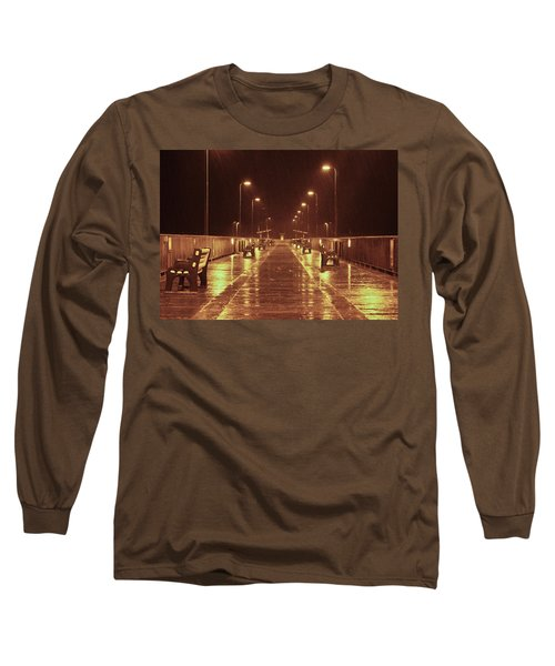 Rainy Night On The Pier Long Sleeve T-Shirt