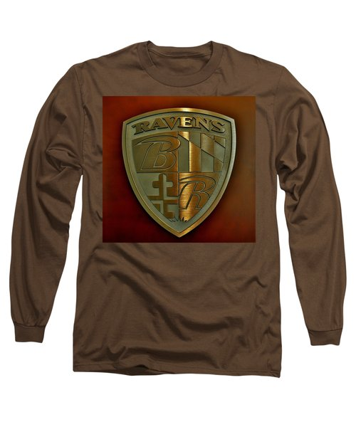 Ravens Coat Of Arms Long Sleeve T-Shirt by Robert Geary