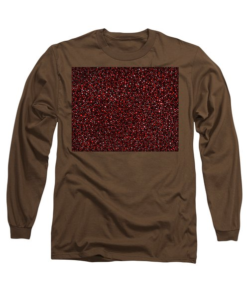 Long Sleeve T-Shirt featuring the digital art Red And Black Circles by Janice Dunbar