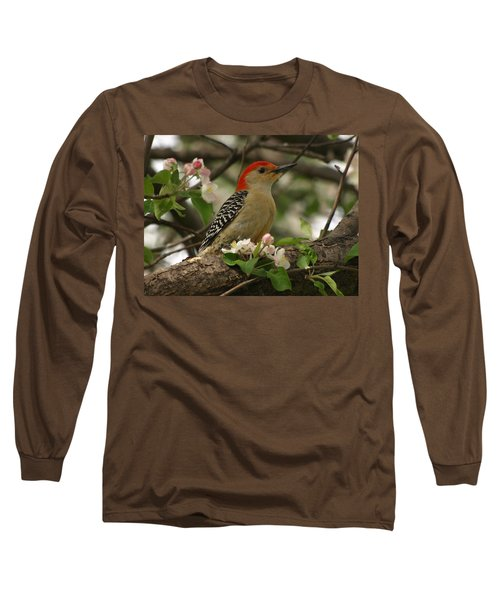 Long Sleeve T-Shirt featuring the photograph Red-bellied Woodpecker by James Peterson