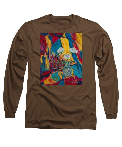 Red Blue Yellow Long Sleeve T-Shirt by Anna Yurasovsky