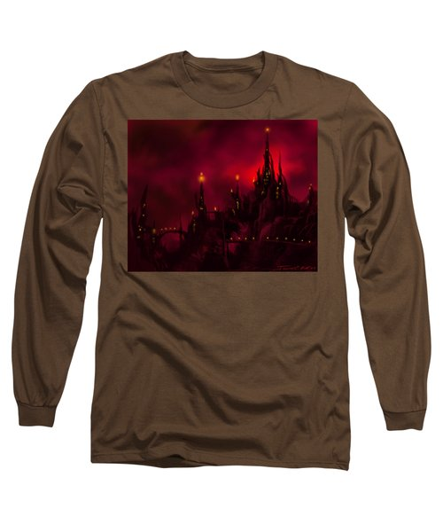 Red Castle Long Sleeve T-Shirt by James Christopher Hill