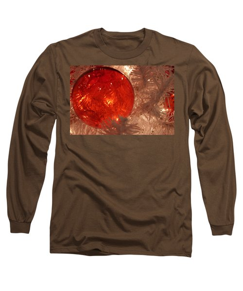 Red Christmas Ornament Long Sleeve T-Shirt by Lynn Sprowl