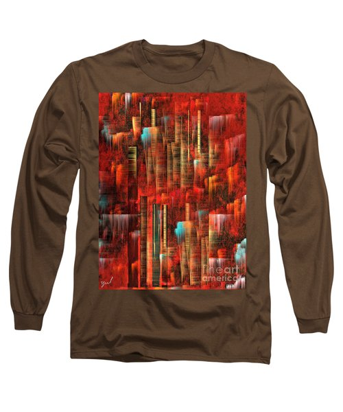 Long Sleeve T-Shirt featuring the painting Concrete Jungle by Yul Olaivar