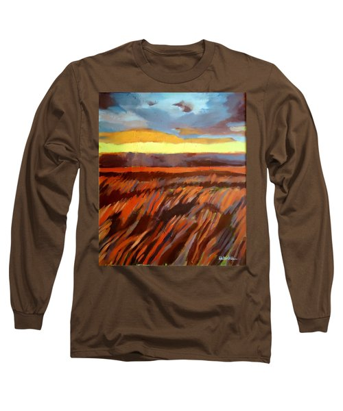 Long Sleeve T-Shirt featuring the painting Red Field by Helena Wierzbicki