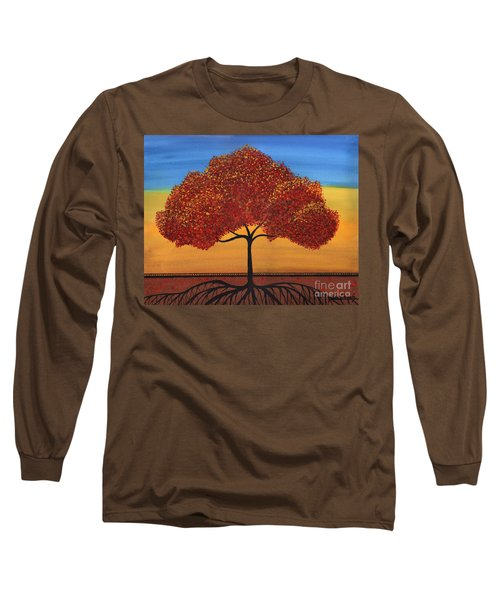 Red Happy Tree Long Sleeve T-Shirt