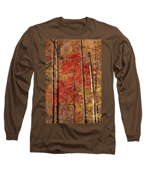 Red Leaves Long Sleeve T-Shirt by Patrick Shupert