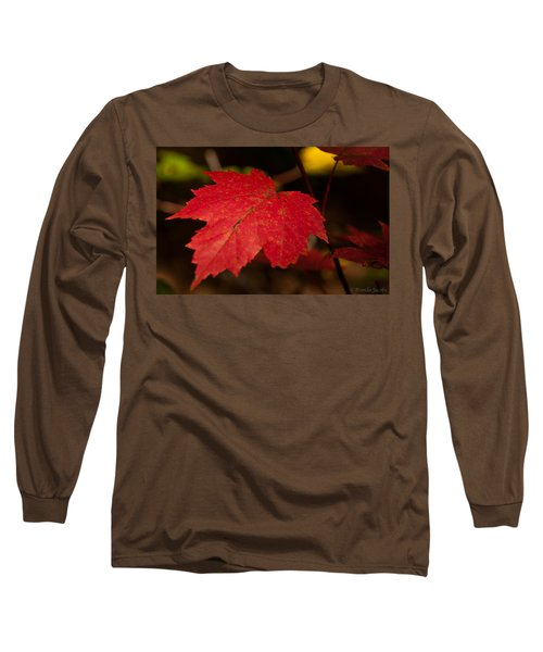 Red Maple Leaf In Fall Long Sleeve T-Shirt
