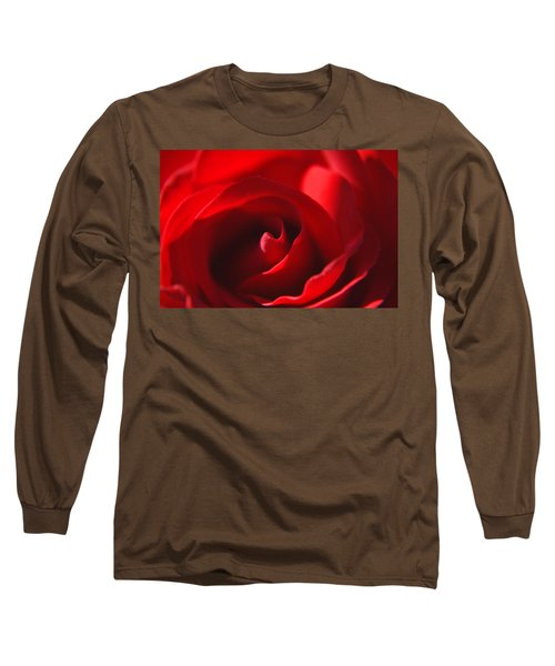 Long Sleeve T-Shirt featuring the photograph Red Rose by Tikvah's Hope
