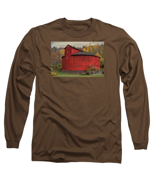 Red Round Barn Long Sleeve T-Shirt