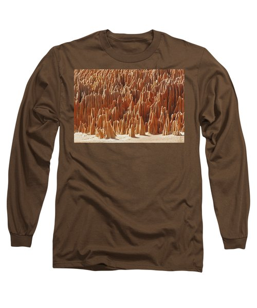 Long Sleeve T-Shirt featuring the photograph red Tsingy Madagascar 1 by Rudi Prott