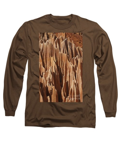 Long Sleeve T-Shirt featuring the photograph red Tsingy Madagascar 5 by Rudi Prott