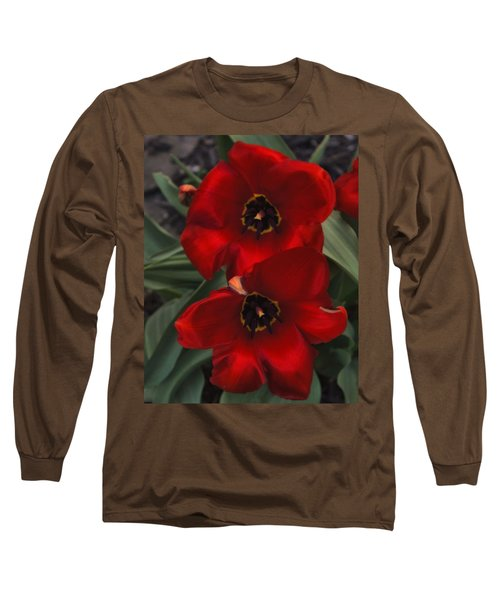 Red Tulip Pair Long Sleeve T-Shirt