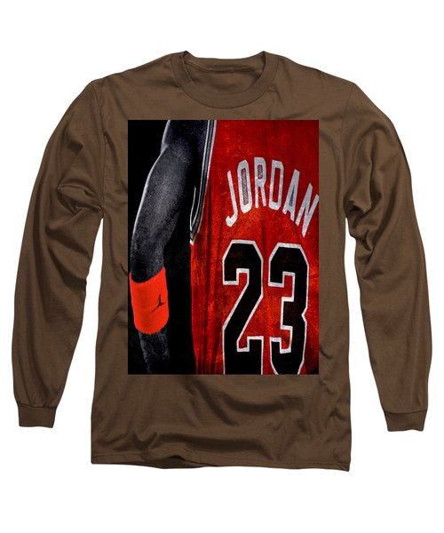 Long Sleeve T-Shirt featuring the digital art Red Wrist Band by Brian Reaves
