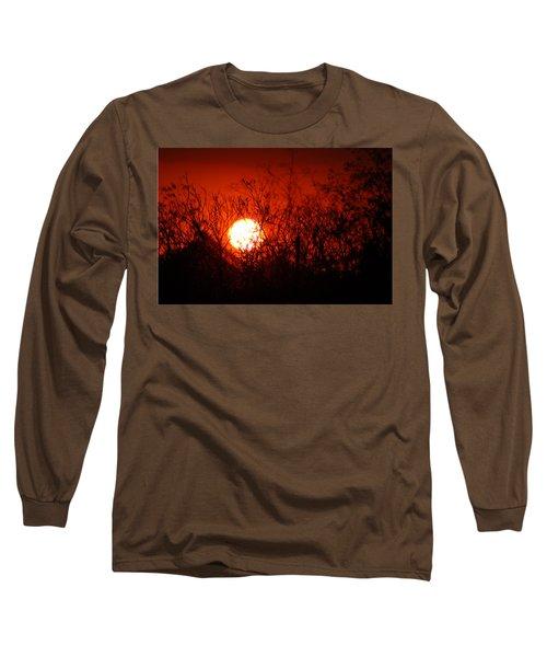 Long Sleeve T-Shirt featuring the photograph Redorange Sunset by Matt Harang