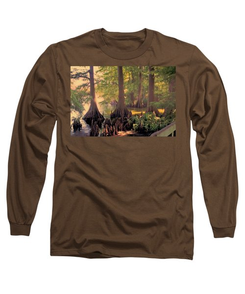 Reelfoot Lake At Sunset Long Sleeve T-Shirt by Bonnie Willis