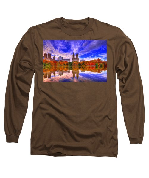 Reflection Of City Long Sleeve T-Shirt by Midori Chan