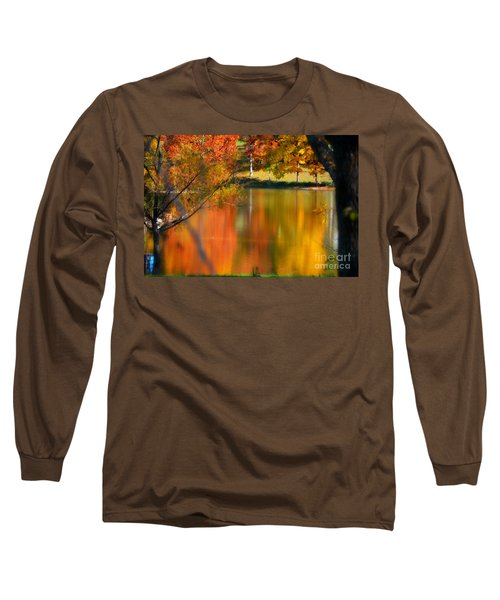 Reflection  Of My Thoughts  Autumn  Reflections Long Sleeve T-Shirt