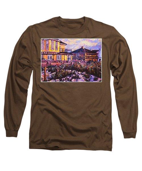 Rehoboth Beach Houses Long Sleeve T-Shirt by Kendall Kessler