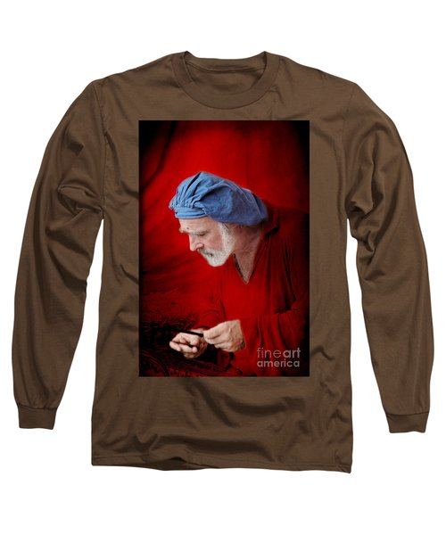 Renaissance Music Man Long Sleeve T-Shirt by Ellen Cotton