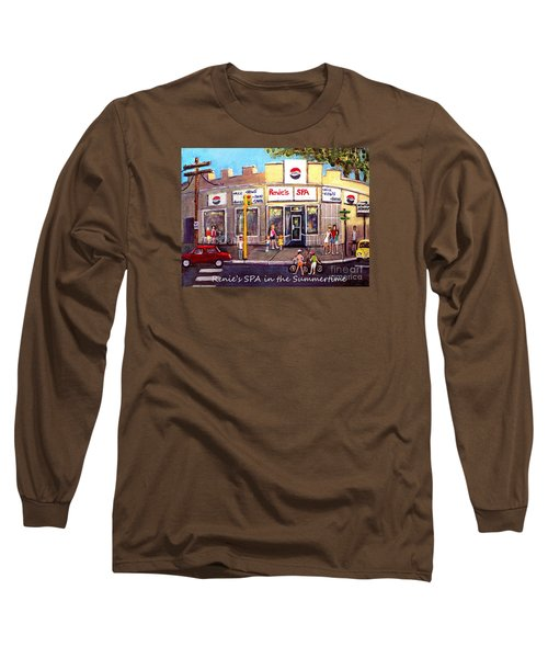 Renie's Spa In Summertime Long Sleeve T-Shirt by Rita Brown